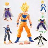 Kit 6 Figure Action Bonecos Dragon Ball Z Articulado Goku