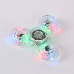 Fidget Hand Spinner Anti Stress Abs Luminoso Led Colorido