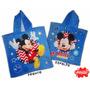 Poncho Toalla C/ Capucha Mickey Mouse Original Disney Piñata