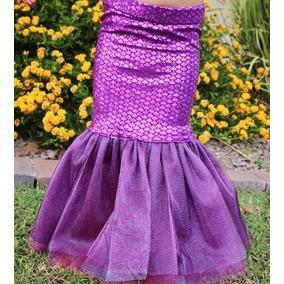 Sirena Cola Niñas Madres E Hijas Disfraz Traje Baño Azukiel