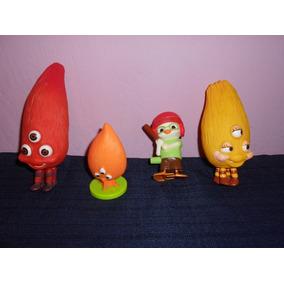 Lote 4 Figuras De Chicken Little De Mcdonalds