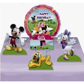 Minnie Mouse Clubhouse Centro De Mesa Con Globo Importado
