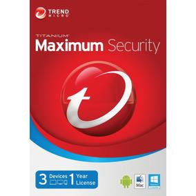 Trend Micro Maxium Security 2016 1 Año - 3 Pcs 100%original