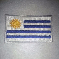 Bandera De Uruguay Bordada. 5 X 3 Cm. Excelente Calidad.