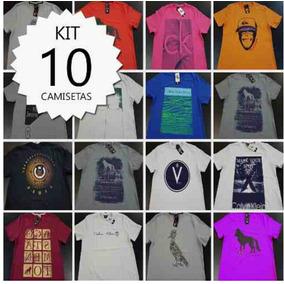 Kit Com 10 Peças Camisetas Multimarcas