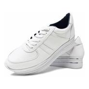 Zapato Tenis Moda Casual Blanco Con Plataforma Alta Calidad