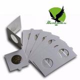 Pack 100 Cartones Adhesivos Para Monedas Leuchtturm