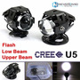 Kit Luces/faros Auxiliares Led Cree U5 3000lm Para Motos