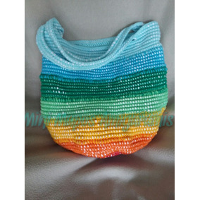 Bolso Cartera Tejido Al Crochet