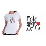Camiseta Camisa Baby Look Cursos Faculdade Fotografa Fotos