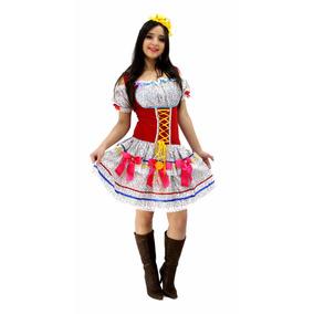 Vestido De Festa Junina Adulto Corpete Plus Size 44 Ao 58