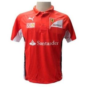 Camisa Escuderia Ferrari Vermelha Formula 1 Polo Masculina · R  99 90 3e2a176668125