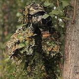 Isafish Ghillie Trajes Caza Camuflaje Maple Leaf Capucha...