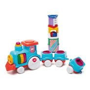 Tren Divertido Con Bloques De Encastre Riva Plast (3117)