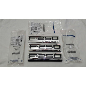 Kit 3 Emblema Ford F-250 Xlt Super Duty Original Novo