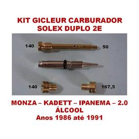 Kit Carburador Solex 2e Monza Kadett Ipanema 2.0 Álcool