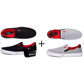 Tenis Kit 2 Pares Polo Iate Masculino + Cinto Polo