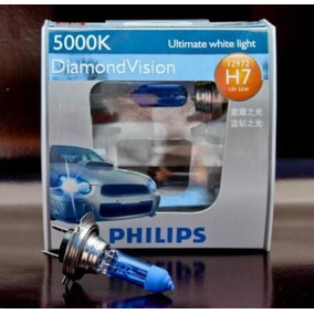 Lâmpada Super Branca Philips Diamond Vision H7 5000k