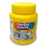 Tinta Tempera Guache Com 250ml Amarelo Ouro 505 Acrilex