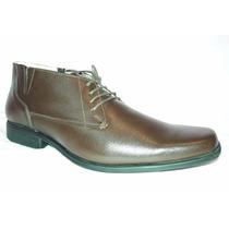 Zapato Botin Hombre Café 100% Cuero Antideslizante 40 41