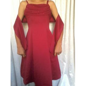Vestido Vinotinto De Gala Talla 12
