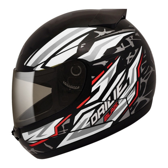 Casco Moto Integral Simple Visor Fly Drive Hg Blaze
