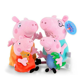 Kit Peppa Pig Familia Com 4 Unidades Pronta Entrega