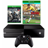 Console Xbox One 500gb + Pes 2018 + Controle Wireless