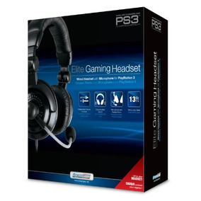 Dreamgear Ps3 Elite Gaming Headset Con En Línea De Chat De