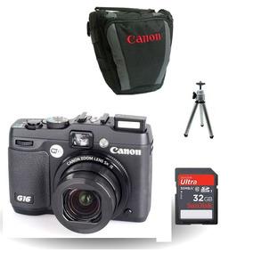 Canon G16 +cartão 32gb Classe 10, G-16 Nf,+bolsa+ Tripé