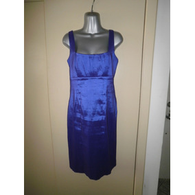 Calvin Klein Vestido De Noche Color Violeta-azul Chico