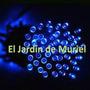 Luz Solar Navideña 50 Led Azul - 5mt Sin Cables A Pila Luces