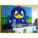 Suporte Painél Aniversário Tela Arco 60 Bexigas Balões