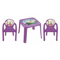 Kit Mesa Infantil + 2 Cadeiras Fadas - Tinkerbell - Plasútil