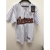 Camisola De Beisbol Equipo Astros Blanca Marca Majestic