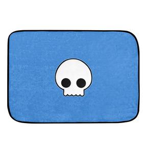 Tapete De Pelúcia Caveira Azul
