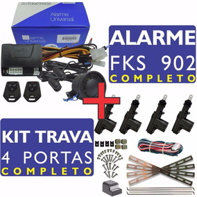 Alarme Automotivo Fks Fk902 Plus Sb + Kit Trava 4p Universal
