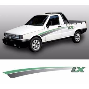 Kit De Faixas Adesivo Pick-up Fiat Fiorino Lx 94 Verde 3m