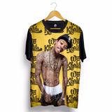 Camiseta Wiz Khalifa Black And Yellow Rap Hip Hop Swag Preta