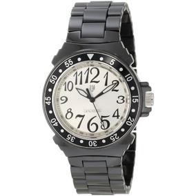 Plata-nr Ola0286bnnr De Lancaster Mujeres Dial Negro Reloj