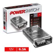 Fuente Alimentación 75w 12v 6a  Switching Metálica Perforada
