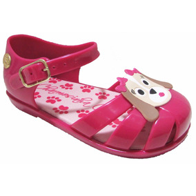Sandalia Sapato Infantil Baby Boneca Pet Cachorro Pink Cake