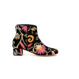 Natacha Zapato Mujer Bota Punta Redonda Velvet Pink #563m