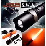 Kit Lanterna Swat Profissional Recarregável Super Promoção