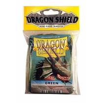 Protetor De Cartas Para Yu-gi-oh! Dragon Shield 50un Verde