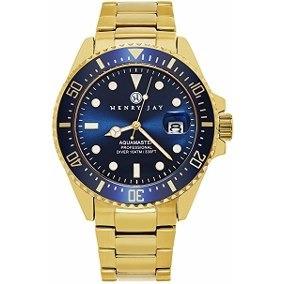 Reloj Henry Jay Inteligente Chapado En Oro De 23k Specialty