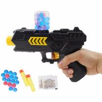 Arma De Paintball Pressão 2 Em 1 Brinquedo Tiro Água Em Gel