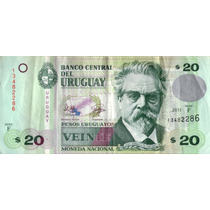 Billete Uruguay 20 Pesos Regular