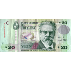 Billete Uruguay 20 Pesos Regular