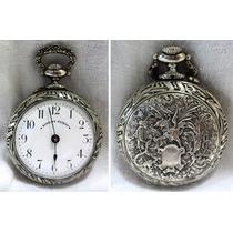 Hermoso Reloj De Bolsillo Roskopf Patent Caja Labrada 5,5 Cm
